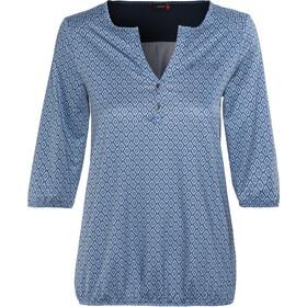 Maier Sports Doora Langærmet T-shirt Damer, blue allover